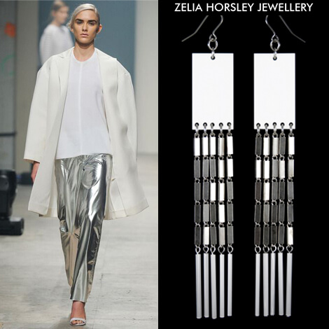 SS14 Maison Rabih Kayrouz & Zelia Horsley Jewellery London - Towering Earrings