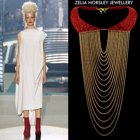 SS14 Vivienne Westwood & Zelia Horsley Jewellery London Fashion Collar necklace RADIATE COLLAR.