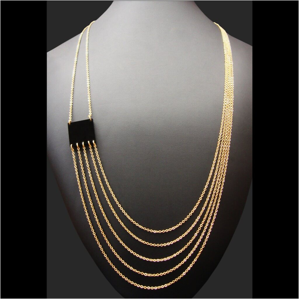 Zelia Horsley Jewellery London -1 squared Necklace - one of the most elegant statement necklaces in the UK