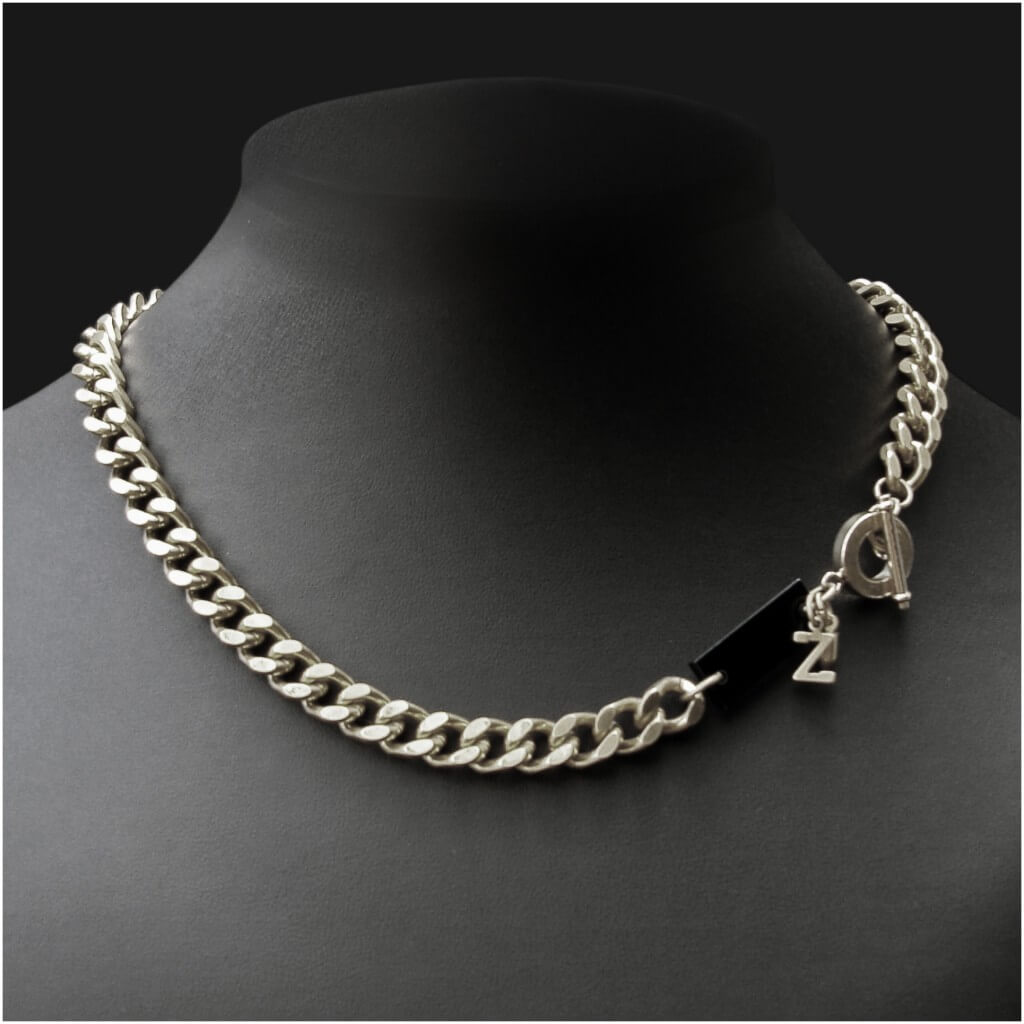 Zelia Horsley jewellery London - BRAZEN BULLET NECK CHAIN - £100