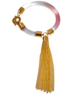Blushing Tassel Bracelet