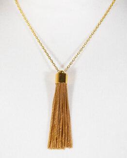Glistening Gold Tassel Neckacecrop